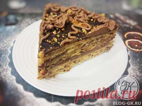 Песочный ореховый торт с нежным шоколадно-масляным кремом | Кулинарный блог Галины Кундиус | Яндекс Дзен