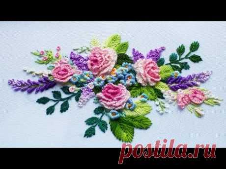 Embroidery: mini Roses 🌸Вышивка: Мини Розы🌸Bordado: mini Rosas