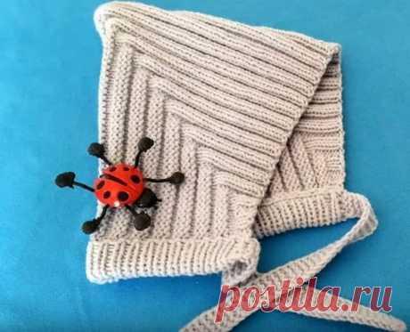Шапочка для новорожденного, связанная спицами: мастер-класс | razpetelka.ru