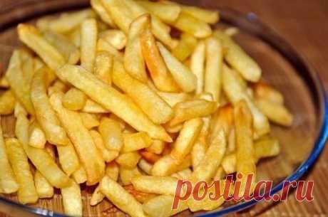 Кулинария >Вкусный картофель фри в духовке.