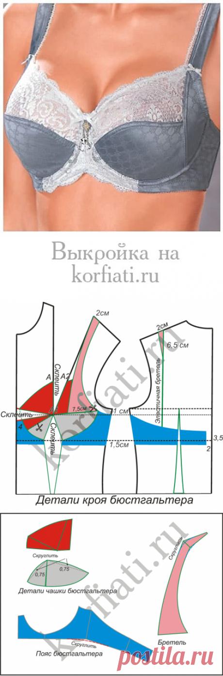 Выкройка бюстгальтера от Анастасии Корфиати