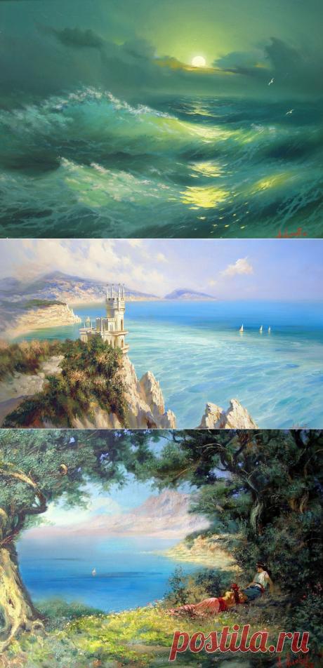 Море бывает разное… Художник Александр Милюков.