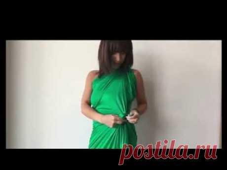 Лайфхак с куском ткани - платье за 5 минут! • ВСЕ ТКАНИ • Интернет-магазин