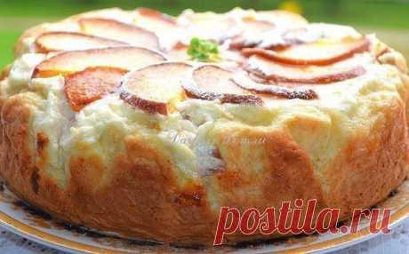 Ароматный пирог с творожно-персиковой начинкой для семейного чаепития Как торт!