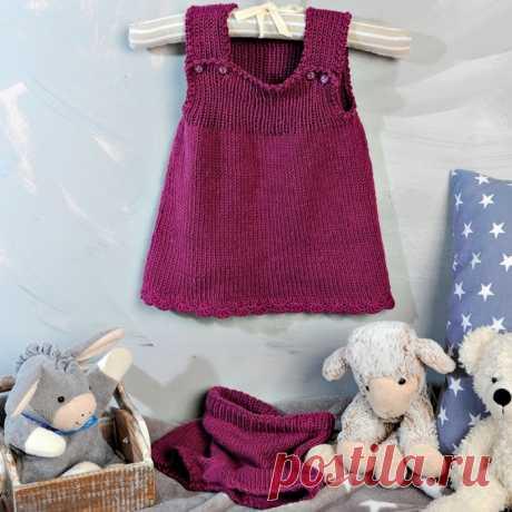 Сарафан с бретелями и короткие штанишки для девочки