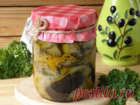 Синенькие с морковкой по-корейски на зиму - пошаговый рецепт с фото на Повар.ру