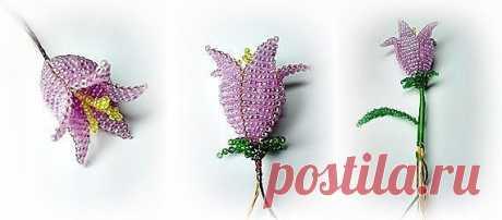 Плетем цветы из бисера — Сделай сам, идеи для творчества - DIY Ideas