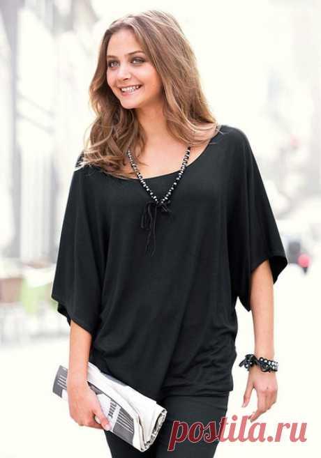 Блуза с цельнокроенным рукавом
