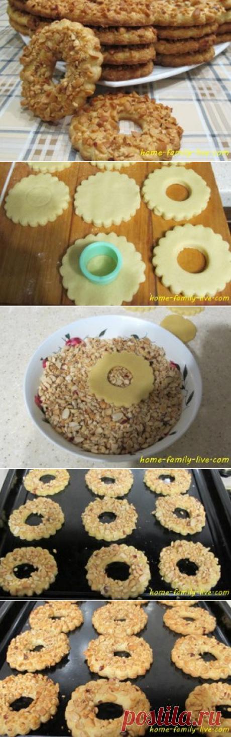 Печенье с орехами - пошаговый рецепт с фотоКулинарные рецепты