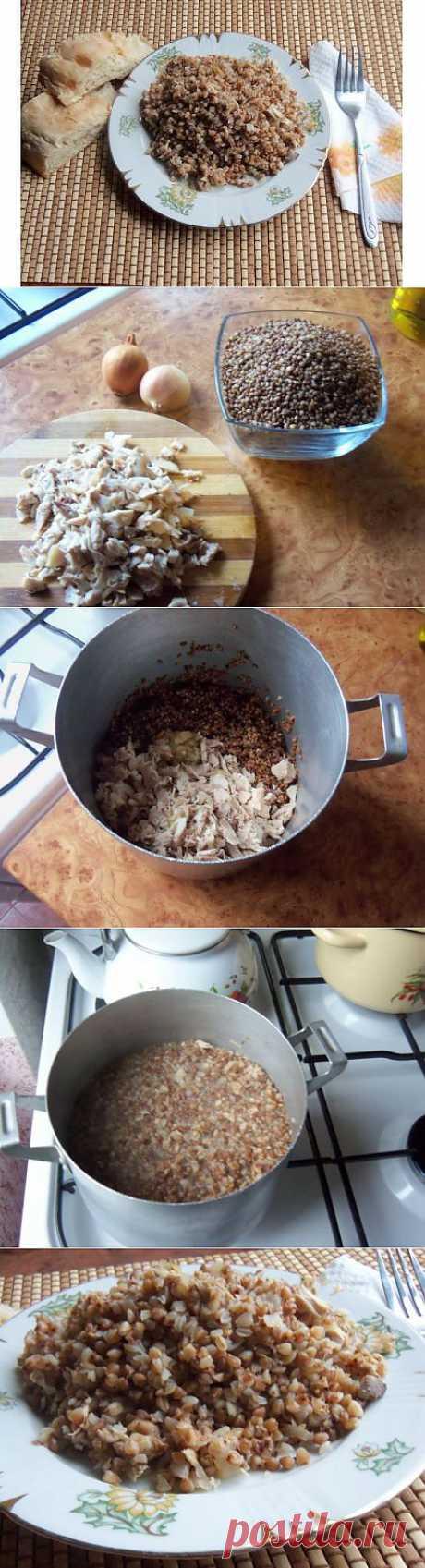 Гречневая каша с курицей рецепт с фото