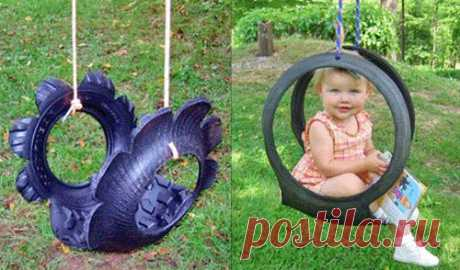Hand-made articles from tires for a garden — beds, furniture, a swing and even the pool | my Ideas For Giving
