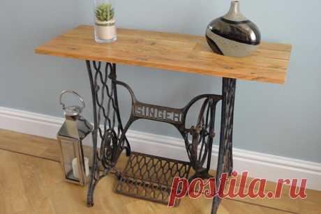 Как сделать стол из старинной швейной машины.