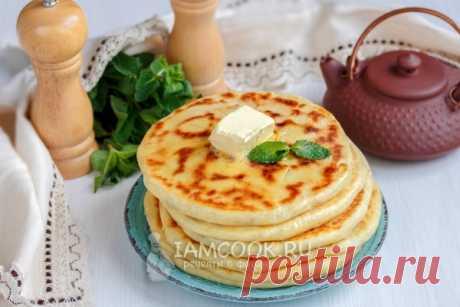 Лепёшки с сыром и зеленью на сковороде — пошаговый рецепт с фото и видео
