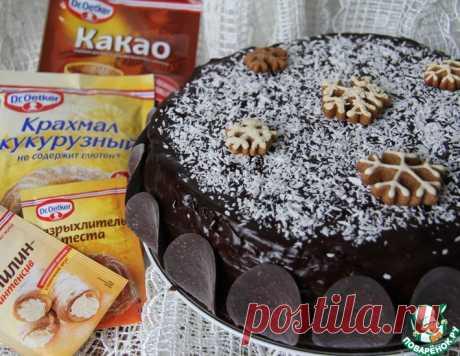 """Шоколадно-кокосовый торт """"Саша"""" – кулинарный рецепт"""