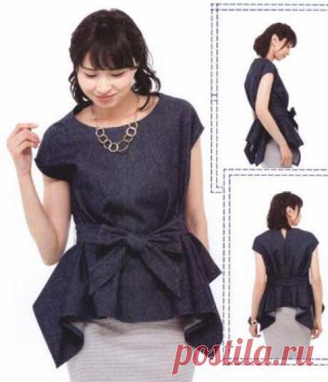 Блузка в стиле бохо - построение на основе базовой выкройки и готовая выкройка на три размера: ОГ82-ОТ66-ОБ90 ОГ88-ОТ70-ОБ94 ОГ94-ОТ76-ОБ98 #простыевыкройки #простыевещи #шитье #блузка #блуза #выкройка
