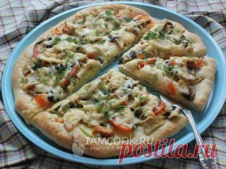Пицца гавайская с курицей и ананасами — рецепт с фото
