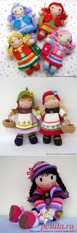 Куклы спицами (34 фото).