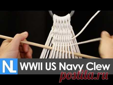 📐Authentic WWII US Navy Hammock clew tying tutorial // Simple DIY