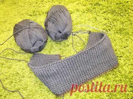 Простой способ вязания плотной двойной резинки с помощью дополнительной нити | Paradosik_Handmade | Яндекс Дзен