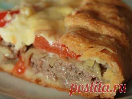 Открытый мясной пирог — vkusno.co