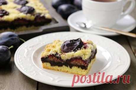 Сливовый пирог с шоколадом. Рецепт, МК + видео от Ирины Хлебниковой
