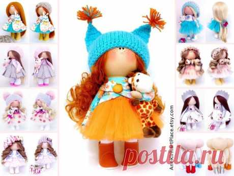 Fabric Nursery Doll Bambole Di Stoffa Textile Rag Doll | Etsy Hello, dear visitors!  This is handmade textile doll created by Master Irina S (Krasnodar, Russia). Doll can be made by Order. Doll is 28 cm (11.02 inch) tall.  All dolls on the photo are made by master Irina S. You can see all dolls by Maria L by search in our shop: