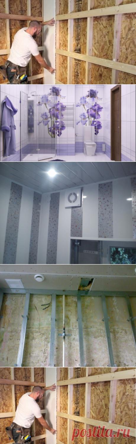 Как крепить панели ПВХ к стене или обшивка стен панелями ПВХ своими руками
