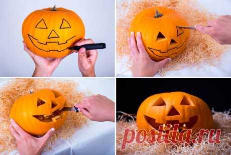 Поделки на Хэллоуин своими руками: как сделать (вырезать) тыкву и другие поделки | Все о рукоделии