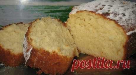 Нежный ванильный кекс на кефире
