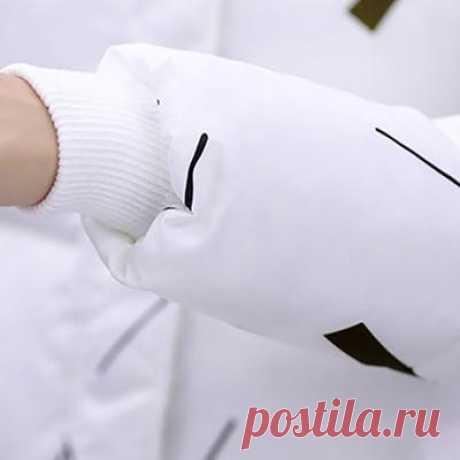 Зимнее пальто корейской версии женщин Хлопок одежда, теплый печати долго – купить по низким ценам в интернет-магазине Joom