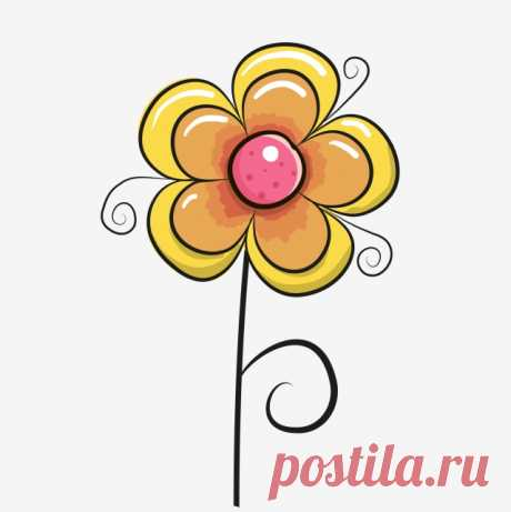 Small Flower Flower Childrens Day Six One, Hand Painted Flowers, Cartoon Flower, A Flower PNG Transparent Clipart Image and PSD File for Free Download