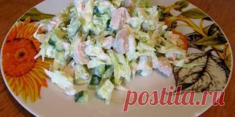 Диетический низкокалорийный салат из капусты с курицей - Полезные советы красоты