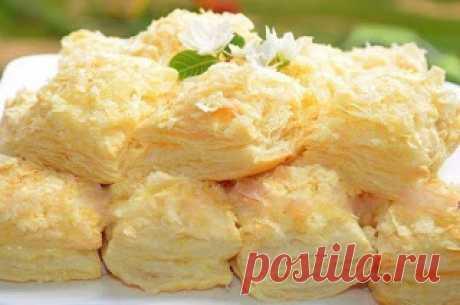 Готовим вкусно: Пирожные из слоёного теста с заварным кремом