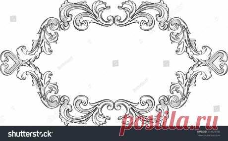 Стоковая векторная графика «Orient Acanthus Vintage Fine Frame On» (без лицензионных платежей), 318428786: Shutterstock