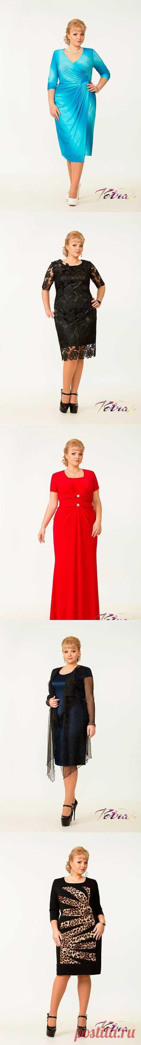Нарядные платья для полных женщин белорусской фирмы Tetra bell. Зима 2014 - Полная модница