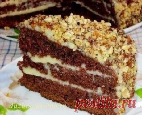 Шоколадный торт на кефире «Фантастика»  Очень простой и необычный рецепт вкусного торта. Приготовить сможет любой. Попробуйте обязательно!  Ингредиенты: Для теста: ●Кефир или простокваша -300 г ●Сахар – 1 стакан ●Яйца – 2 шт. ●Растительное масло – 2 ст. л. ●Какао – 2-3 ст. л. ●Сода – 1 ч.л. ●Мука – 2 стакана  Для крема: 1- вариант – сметанный крем ●Сметана – 400 г ●Сахар – 1 стакан ●Масло сливочное -200 г  2- вариант – заварной крем ●Яйца – 2 шт. ●Сахар – 300 г ●Мука-2 ст....