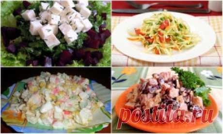 Салаты на скорую руку, рецепты с фото из простых продуктов