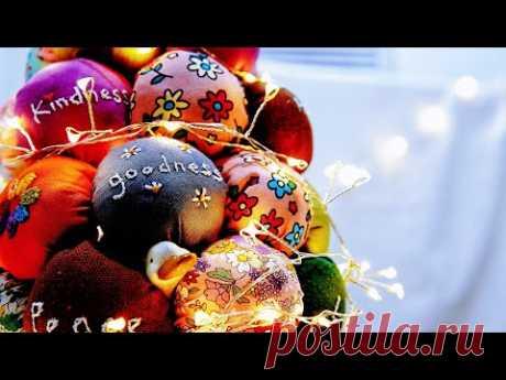 Рождественская елка из ткани Новогодняя елка своими руками┃Очень оригинально