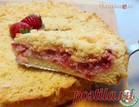 Насыпной пирог с клубникой и рикоттой - Поварёнок с лучшими рецептами - медиаплатформа МирТесен