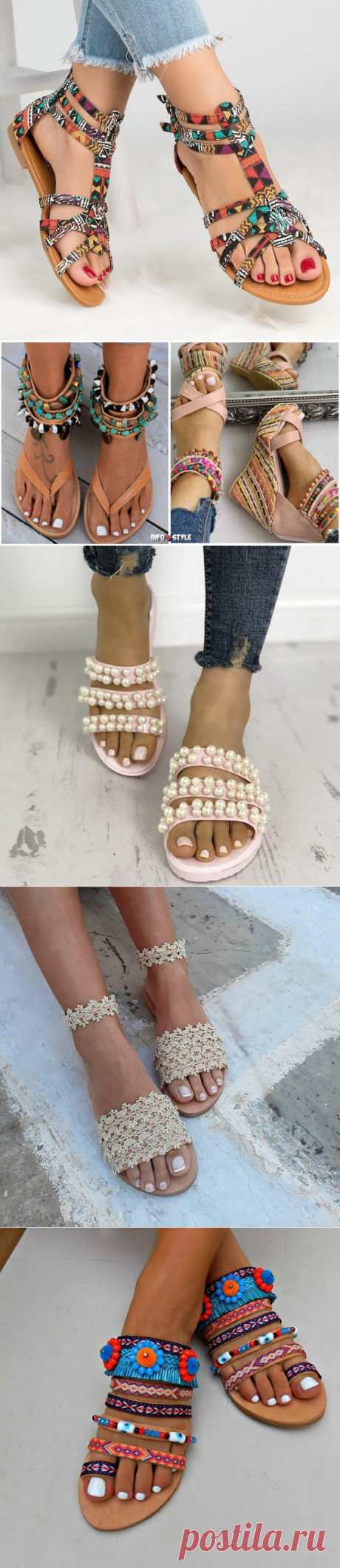 БОХО-шик на ваших ножках: стильные босоножки на лето 2020   Новости моды