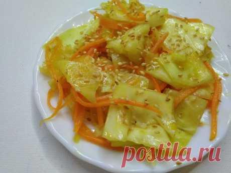 Рецепт капусты по корейски быстрого приготовления — Кулинарная книга - рецепты с фото