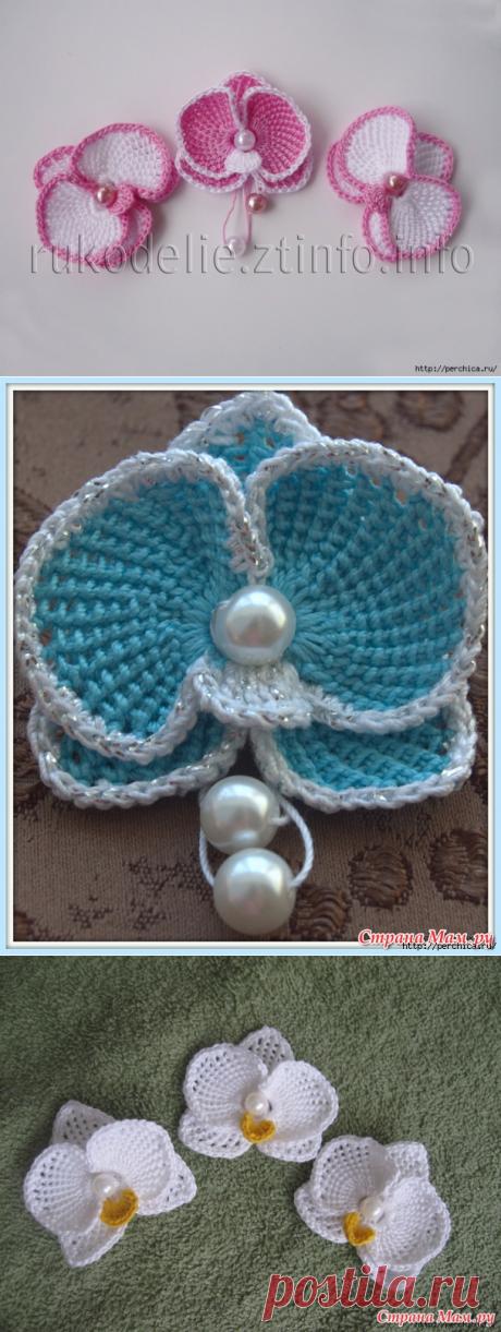 Las pequeñas orquídeas hermosas por la labor de punto de Tunicia - mk