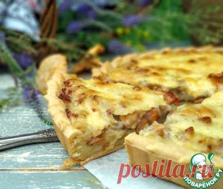 Открытый пирог с жюльеном из лисичек – кулинарный рецепт