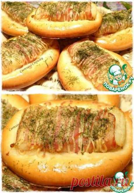 Rolls with potatoes and bacon - the culinary recipe