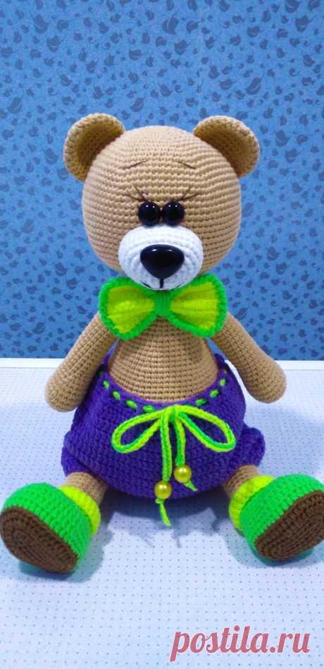 PDF Мишка Пышка крючком. FREE crochet pattern; Аmigurumi animal patterns. Амигуруми схемы и описания на русском. Вязаные игрушки и поделки своими руками #amimore - медведь, маленький медвежонок, мишка.