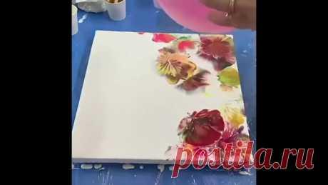Необычная, лёгкая и красивая техника рисованияОбязательно попробуйте с малышами