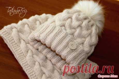 "Set cap + snud ""Карамель & брюле&quot Cream;. Beautiful set spokes | Handmade24"
