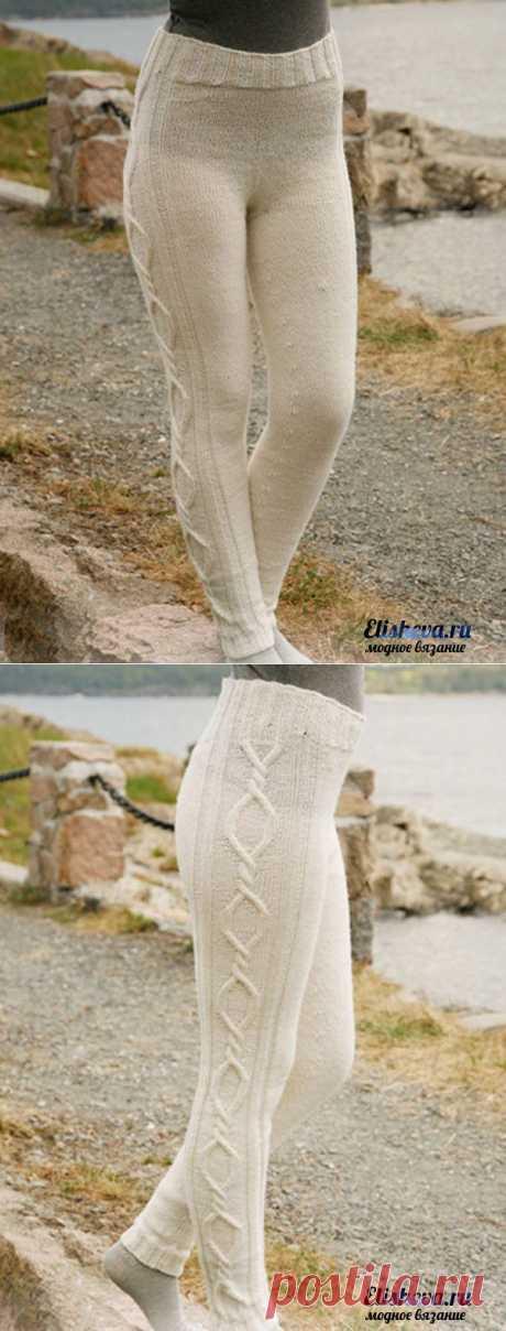 Fino legginsy de Drops Design tejido por los rayos