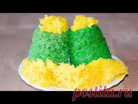 Бисквитный мох для декора   Biscuit Green Moss Cake Decoration - YouTube