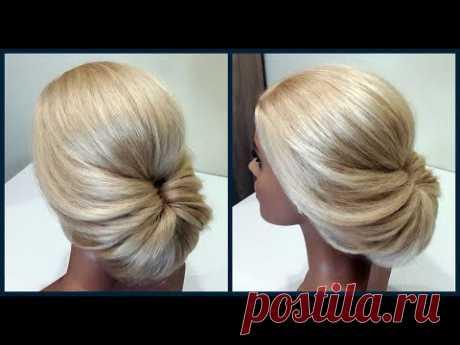 Легкий вариант для создания самой себе Вечерней Прически.Fast, light evening hairstyle for yourself - YouTube